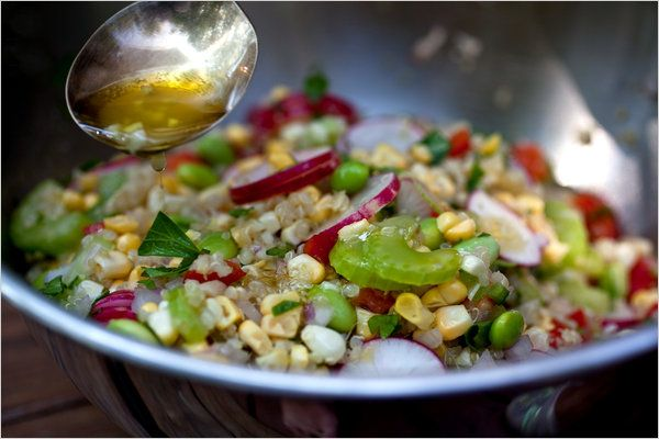 Quinoa, Corn and Edamame Salad (P): Corn And Edamame Salad, Salad Recipes, Eatz Salad, Quinoa Edamame, Healthy Eating, Healthy Yummy, Eating Clean, Healthy Recipes, Health Summer Recipes