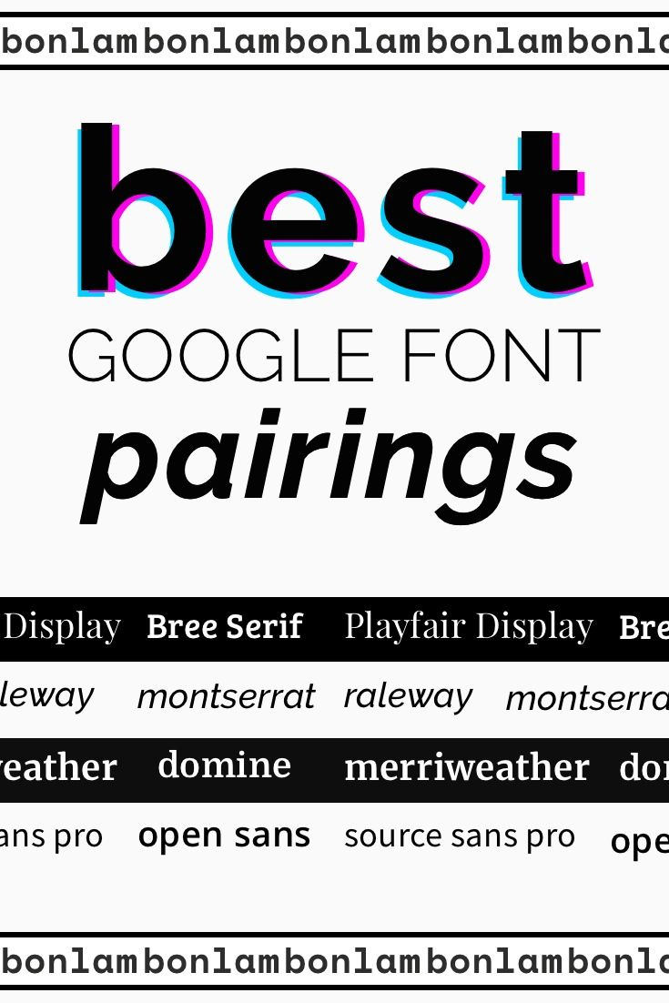 Best Font Pairings 2019 10 Best Google Font Pairings and Combinations 2019 | Best of