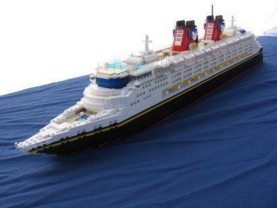Fantástico LEGO MOC: crucero Disney Magic cruise ship