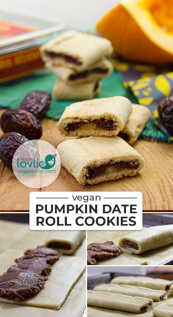 Pumpkin Date Roll Cookies Vegan Cookies Veganlovlie