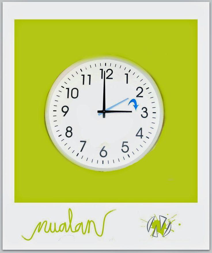 nualan: hoy hay cambio de hora
