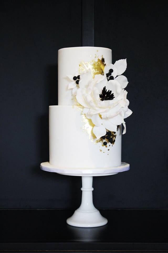 modern wedding cake; Featured Cake: Kiss My Cakes