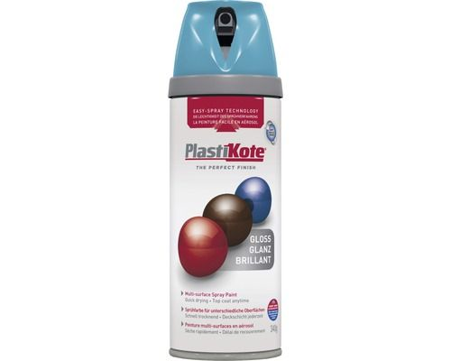 PLASTIKOTE Spuitlak Premium glanzend mediterraans blauw 400 ml