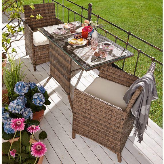 Outdoor Mobel Set 3 Tlg Travo 3 Tlg Inkl Auflagen Rattan Outdoor Mobel Gartenmobel Sets Mobel