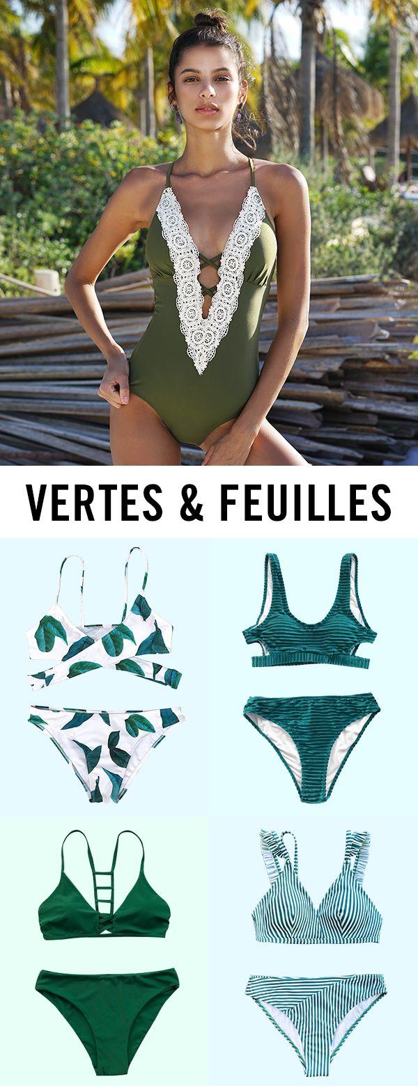Tout le monde doit avoir un maillot de bain vert. Solide ou imprimé,bikini ou…