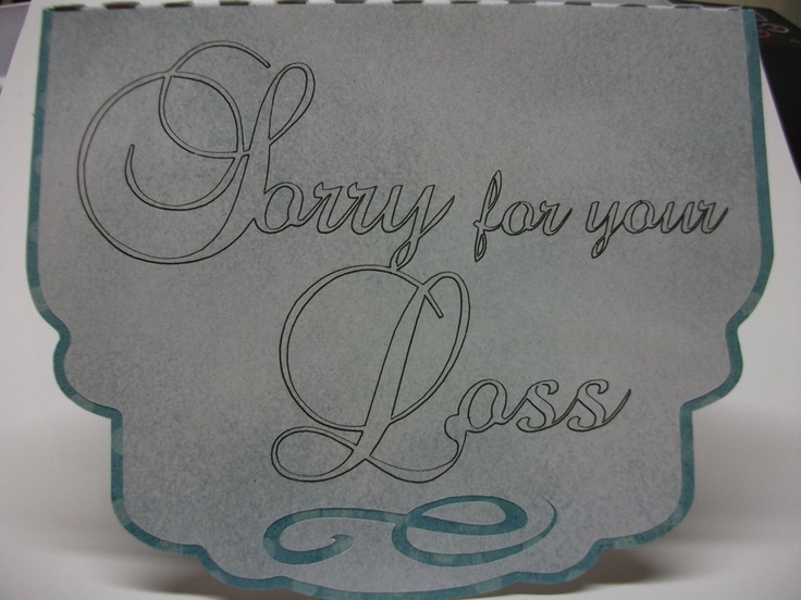 Sympathy card made with Silhouette machine