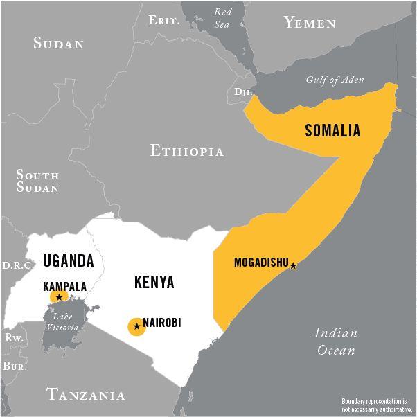 Map of Al-Shabaab operational area