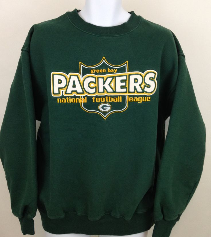 Green Bay Packers Sweatshirt, Vintage Majestic Sweatshirt, Go Pack Go, Men's Green Bay Sweatshirt Size L, Gift for Dad, Crew Neck Jumper by UniqueTreasuresPA on Etsy