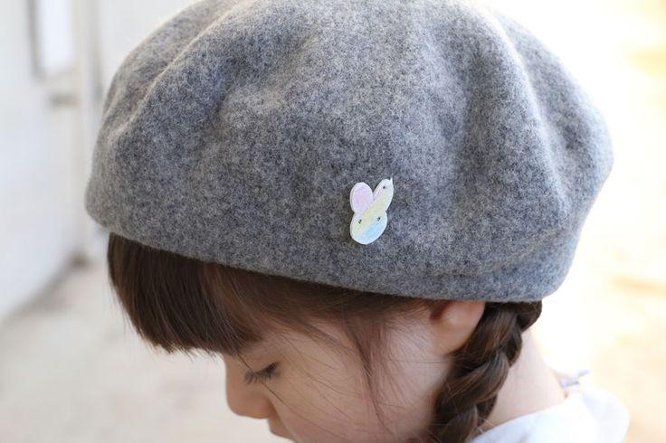 あそび育 |   入園準備 制帽とカバンにプラバンで小さな目印つけました
