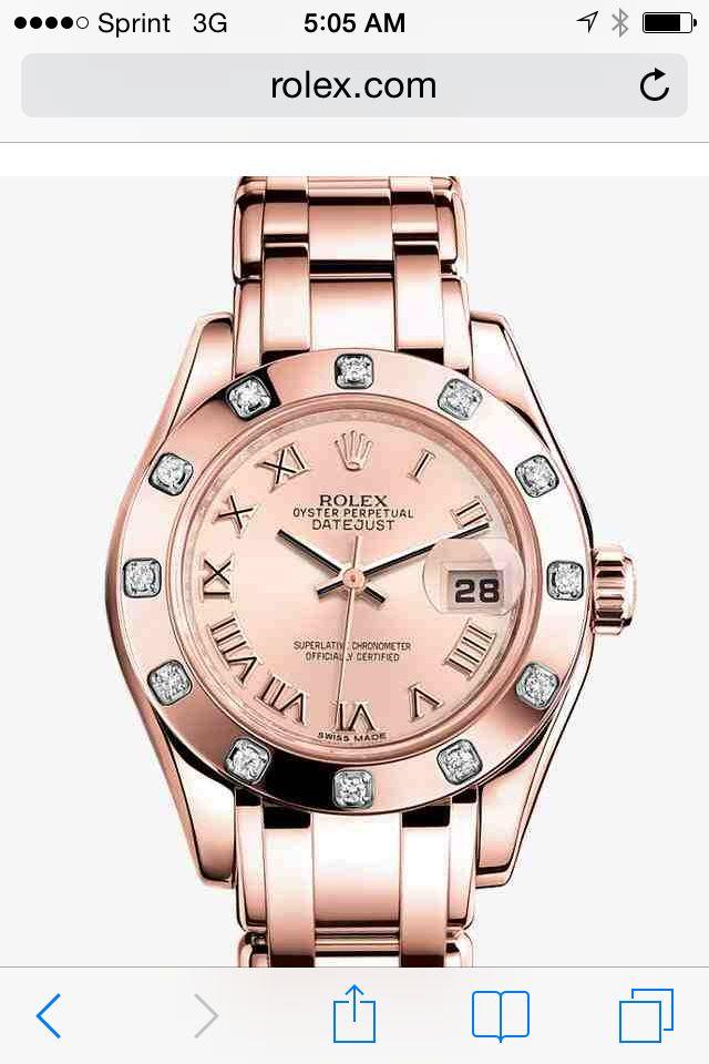 Rose gold Rolex Datejust