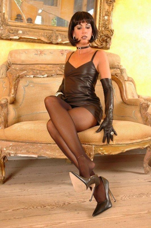 Transvestite shemale pantyhose nylon cock ur 9