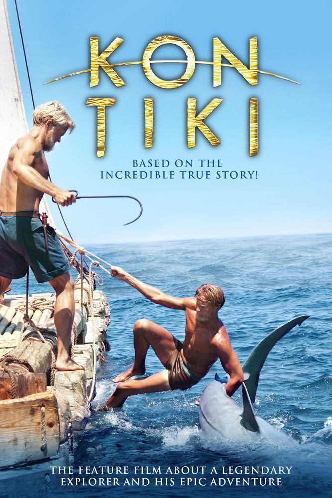 Kon-Tiki Movie Poster - Pål Sverre Hagen, Anders Baasmo Christiansen, Tobias Santelmann  #MoviePoster, #Drama, #JoachimRoenning, #TikiPoster, #LSverreHagen, #TobiasSantelmann