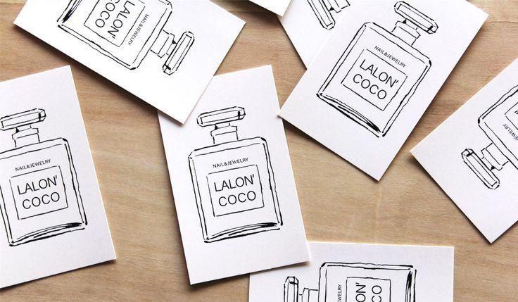 ジュエリー&ネイルサロンのカード-アルニコデザイン