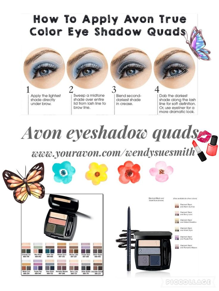 Complementary shades avon true color eyeshadow quad