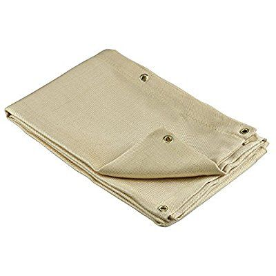 Neiko 10908A Heavy Duty Fiberglass Welding Blanket and Cover with Brass Grommets Size 4 FT. x 6 FT. - Mig Welding Equipment - Amazon.com