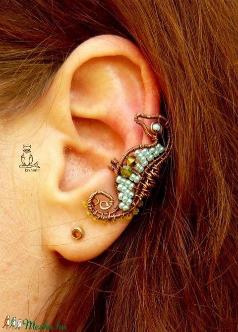 Csikóhal - réz fülgyűrű (kricsar) - Meska.hu