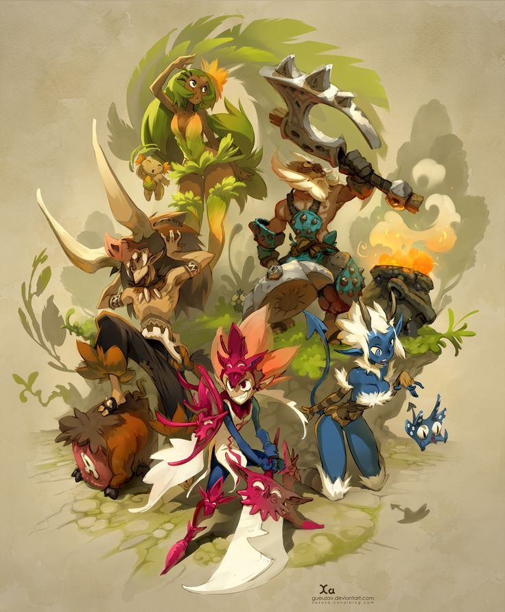 Wakfu MMORPG Available on Steam ! by xa-xa-xa.deviantart.com on @deviantART