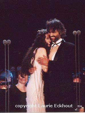 Andrea Bocelli and Sarah Brightman in Andrea's Statue of Liberty Concert