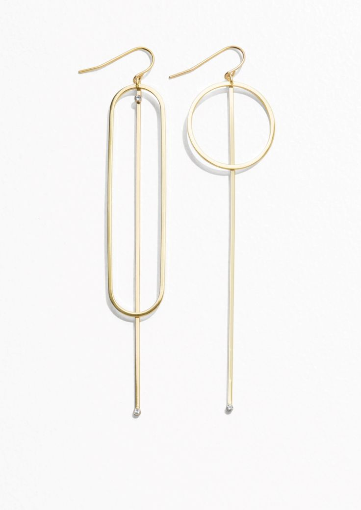& Other Stories Geometric Pendant Earrings  in Gold