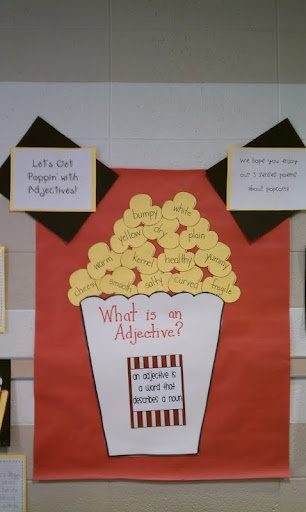 adjectives popcorn poster