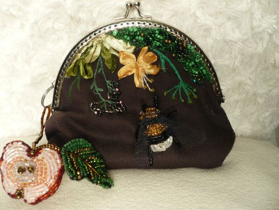 Large purse with two pendants. by MartiliosArt on Etsy