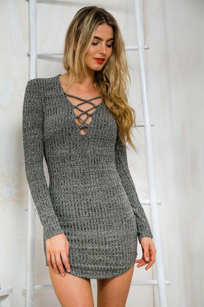 deep v long dress uvare