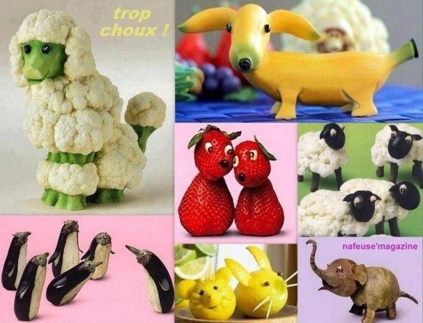 fruits et l gumes originaux formes animaux ideas para. Black Bedroom Furniture Sets. Home Design Ideas