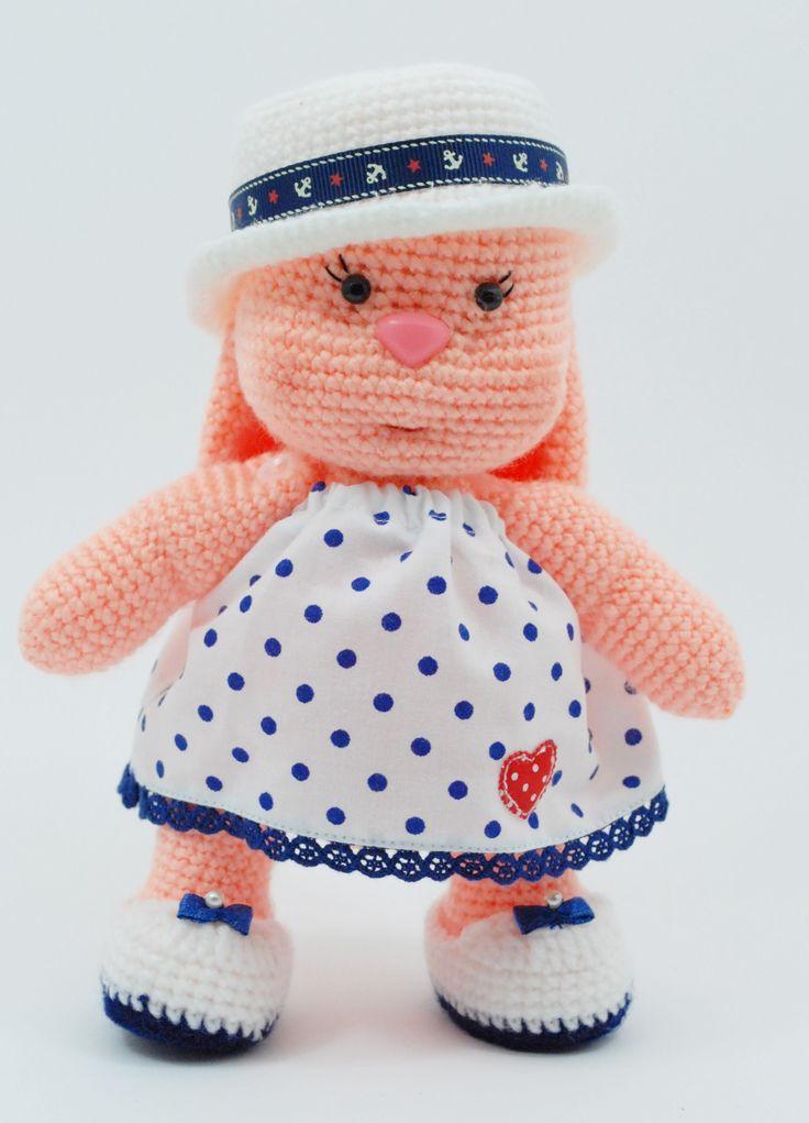 Szydełkowy króliczek Amigurumi Crochet bunny rabbit
