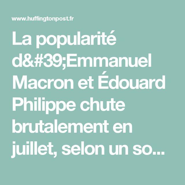 La popularité d'Emmanuel Macron et Édouard Philippe chute brutalement en juillet, selon un sondage