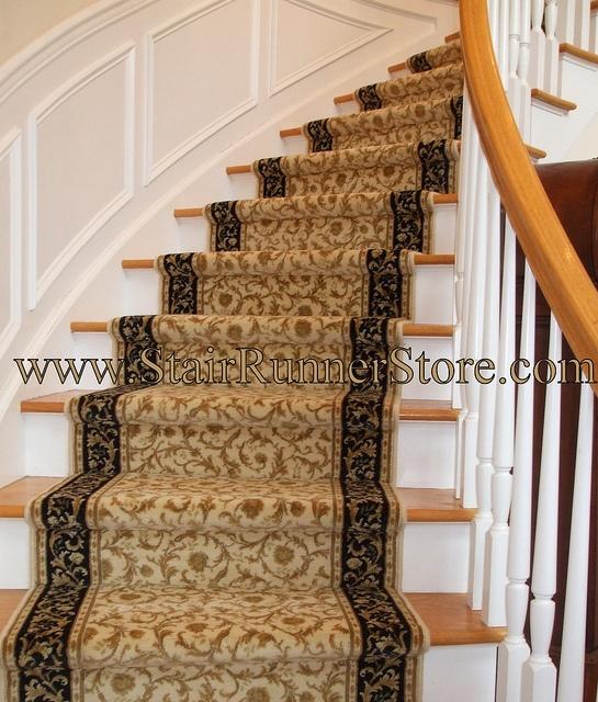 Custom Curved Stair Runner Installation by The Stair Runner Store, via Flickr. www.StairRunnerStore.com