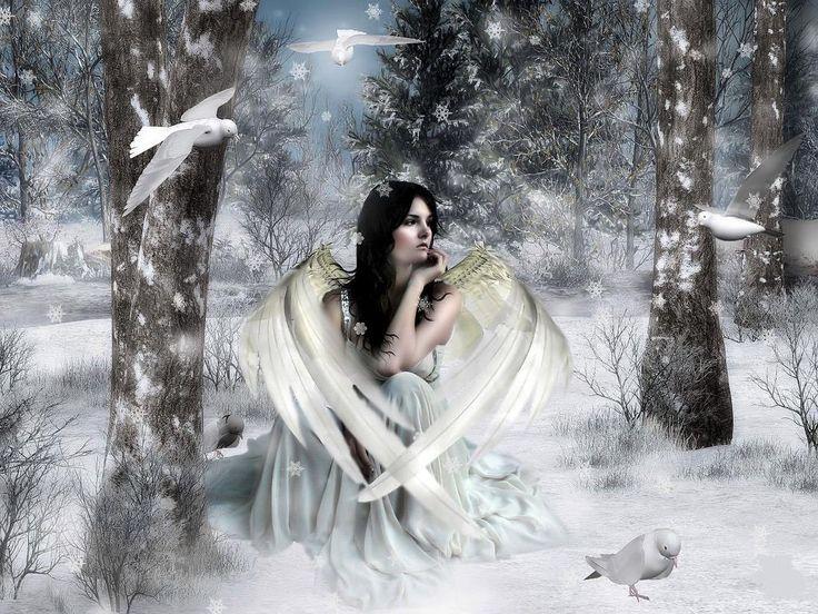 snow angel wallpaper cartoon - photo #43