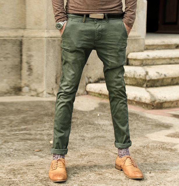 Check current price Retro metrosexual man wash old army green male super slim jeans metrosexual man straight casual jeans K659 just only $29.99 with free shipping worldwide  #jeansformen Plese click on picture to see our special price for you