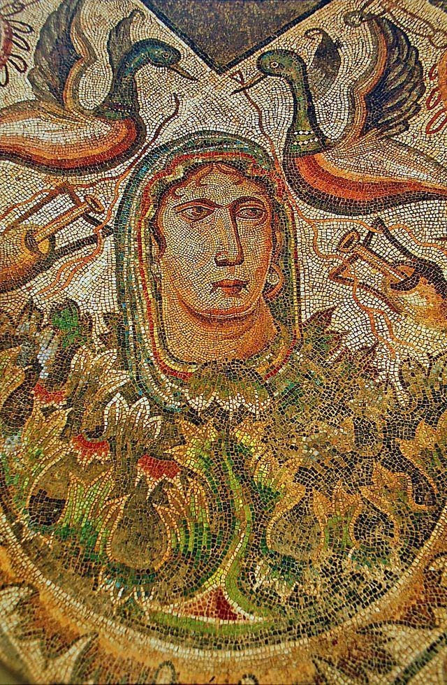 """Azulejos Para Baños En Talavera Dela Reina:Villa Romana de La Olmeda: mosaico en el oecus que representa """"La"""