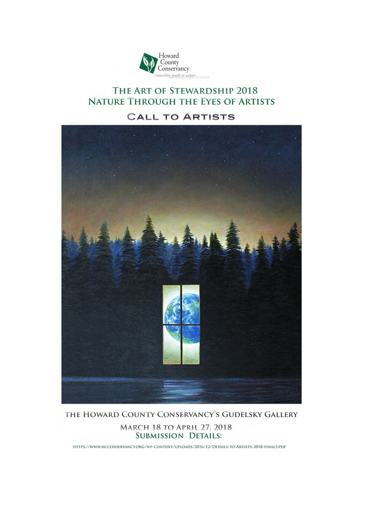 A Call to Artists The Art of Stewardship 2018: Nature Through the Eyes of Artists The Howard County Conservancy is accepting submissions for the 2018 10″x 10″ art show, Nature Through the Eyes of Artists. The show is presented by the Howard County Conservancy in partnership with The Art of Stewardship (TAOS) Project, and Medomak Family Camp and Retreat Center. The 2018 show is an opportunity for artists to display pieces inspired by nature and to support the work of the Conservancy and its…