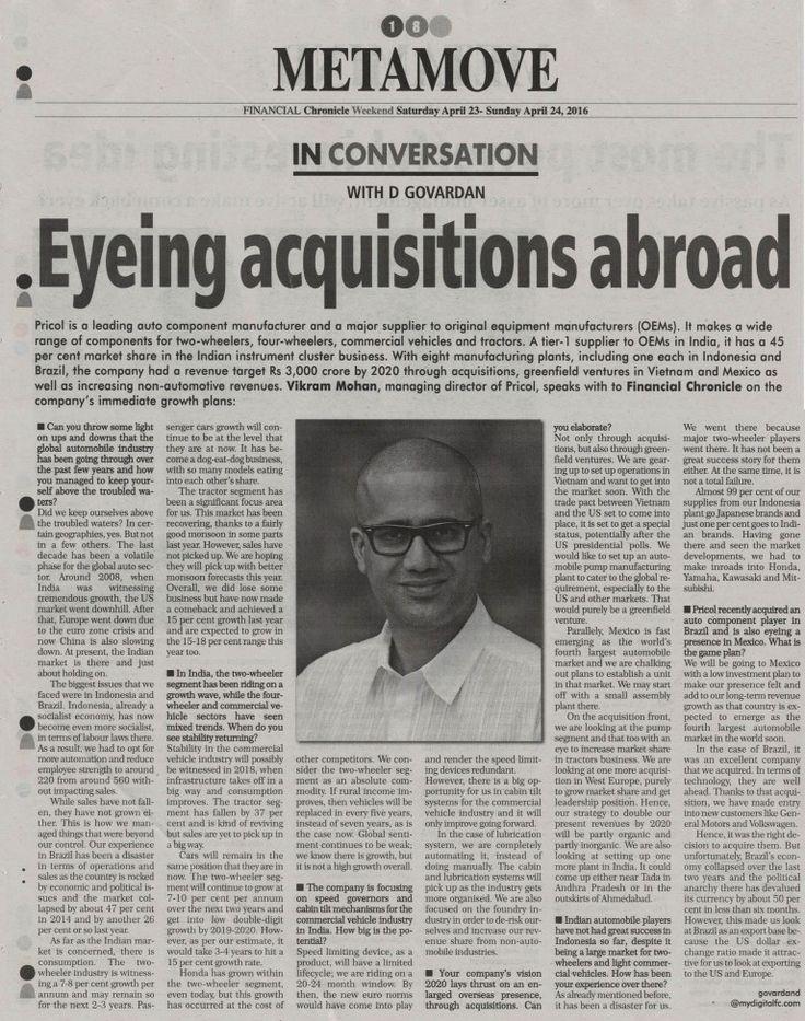 7 best Vikram Mohan Managing Director of Pricol Limited Says - managing director job description