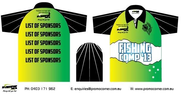 Aussie Theme - Tournament Fishing Shirts. Order your custom fishing shirts today!