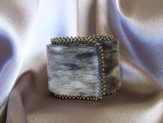 Beaded Sealskin bracelet