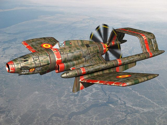 ATTACK AIRPLANE FROM SPANISH AIR FORCE, 1955 by cutangus, via Flickr