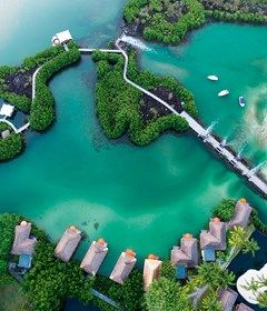 Aerial view of the Constance Le Prince Maurice, Mauritius