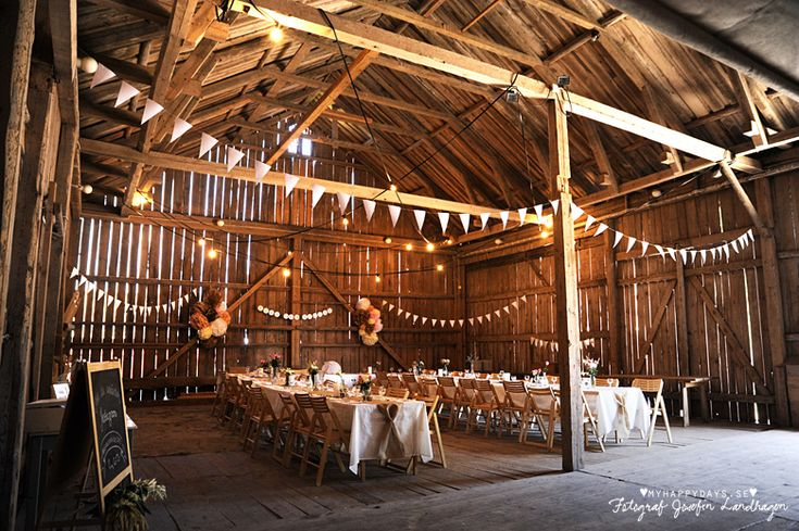 Bröllopsfest i lada