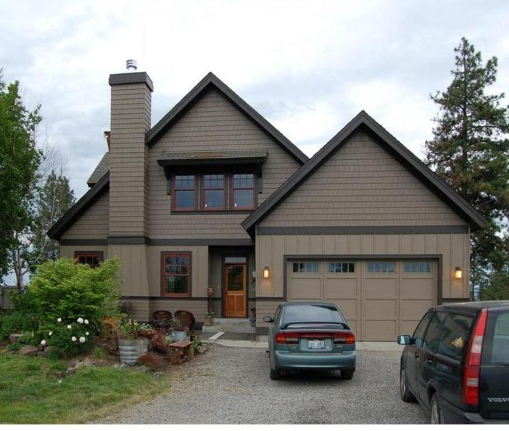 Image Result For Grey Green With Brown Trim House Exterior Like My Exterior House Paint Color Combinations House Paint Exterior Exterior House Colors