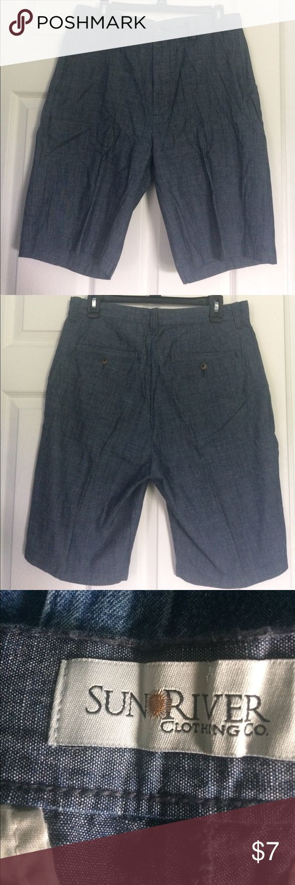 Sun river men's dress shorts NWOT sun river clothing company Gary dress shorts. Waist is a size 32. Zipper fly and fabric makeup is 100% cotton. Bundles and offers are always welcome. HAPPY POSHING POSHERS sun river clothing co. Shorts