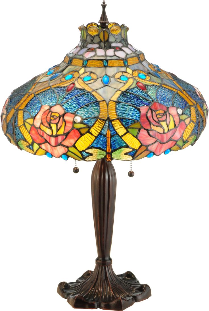 Vintage glass table lamps - Dragonfly Rose Table Lamp Tiffany Table Lamps Tiffany Arttiffany Glassantique