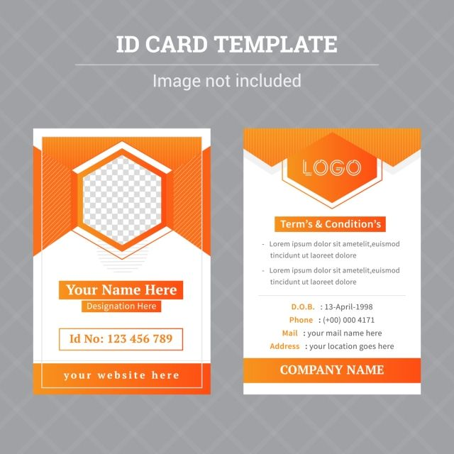 Brand Identity Id Card Template Dengan Gambar Desain