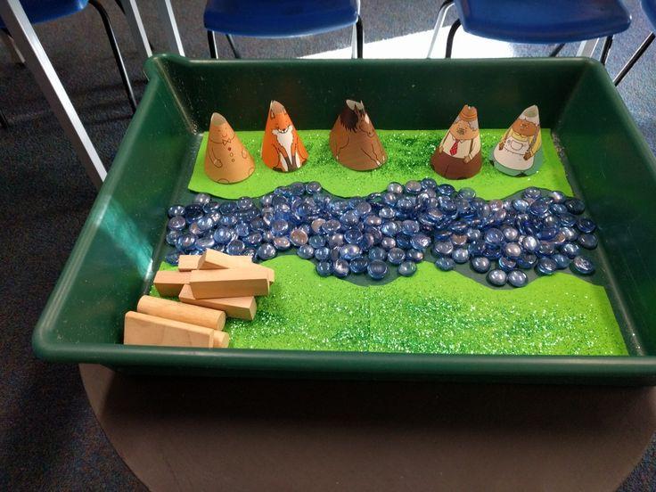 Gingerbread man small world in my EYFS classroom
