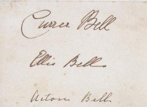 An early fan of the Brontës' poetry (or the Bells' poetry) asked the publishers if he could have their autographs, so they sent him these pseudonym signatures.