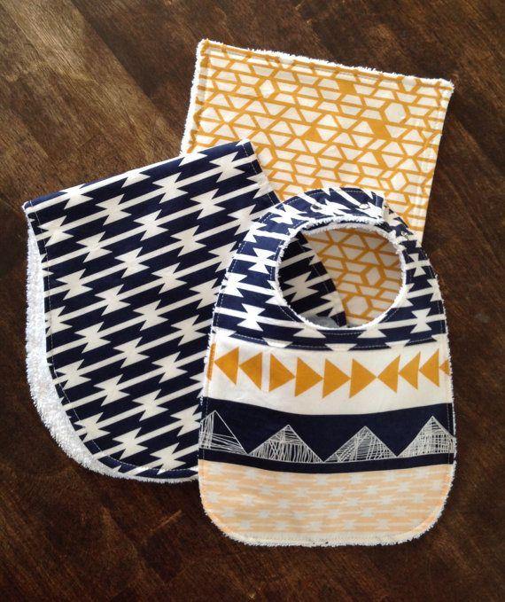 Baby Burp Cloths-Southwest-Aztec Burp Cloth Boy-Burp by bbsprouts