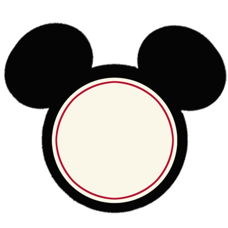Free Mickey Mouse Cupcake Topper Download ~ This is a jpeg version you can either open in photoshop and type on or print blank and write on.