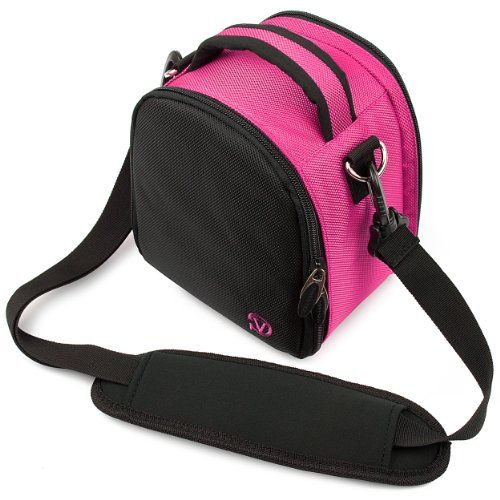 (Magenta Pink) Laurel VG Camera Bag w/ Removable Shoulder Strap for Nikon D7100 / Nikon Coolpix L820 / Nikon Coolpix P520 DSLR Digital Cameras MyVangoddy,http://www.amazon.com/dp/B004VHC844/ref=cm_sw_r_pi_dp_F40Xsb01B8MKEPXN