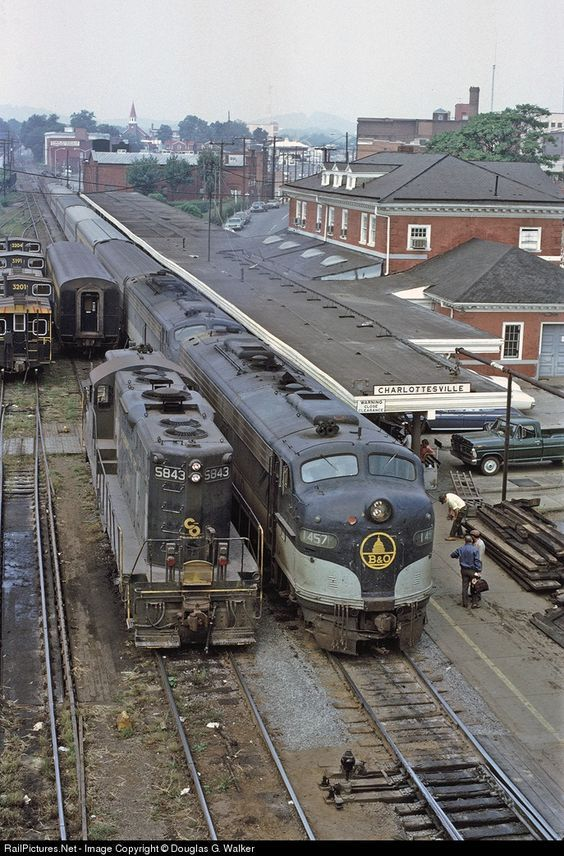 RailPictures.Net Photo: B&O 1457 Baltimore & Ohio (B&O) EMD E9(A) at Charlottesville, Virginia by Douglas G. Walker